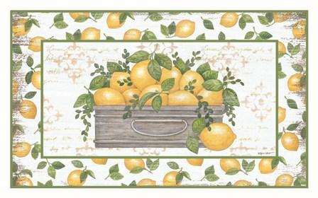 Lemon Galvanized Bucket by Annie Lapoint art print