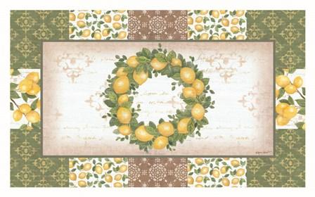 Lemon Wreath by Annie Lapoint art print