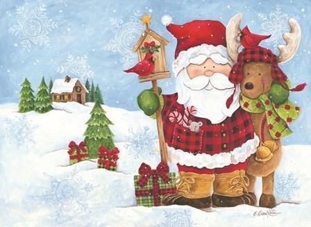 Lodge Santa by Diane Kater art print