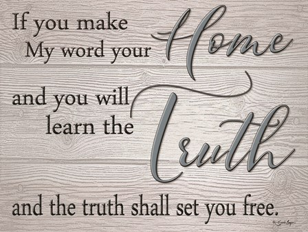 Truth Shall Set You Free by Susie Boyer art print