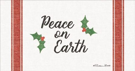 Peace on Earth Grain Sack by Susan Ball art print