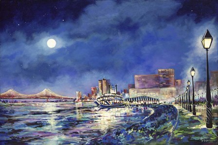 New Orleans Riverfront by ADEL art print