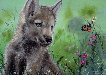 Wolfcub 1 by Greg Farrugia art print