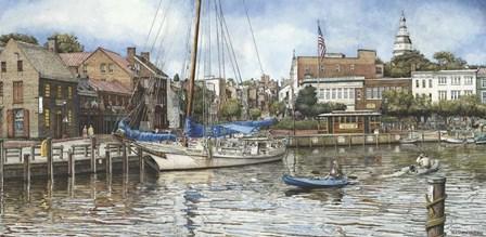 Annapolis City Dock by Nicholas Santoleri art print