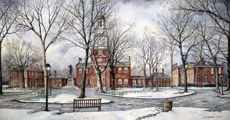 Independence Hall by Nicholas Santoleri art print