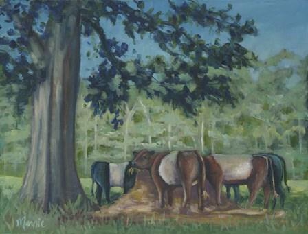 Rhode Island Oreo Cows by Marnie Bourque art print