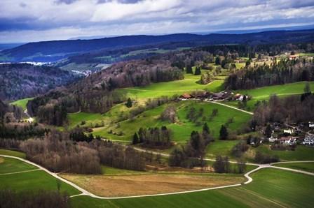Aerial View of the Hills Near Zurich by Jenny Rainbow Fine Art art print