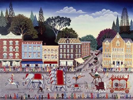 Circus Parade by Kathy Jakobsen art print
