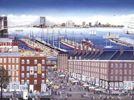 SouthStreet Seaport by Kathy Jakobsen art print
