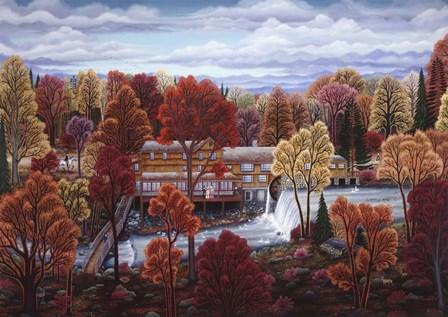 Cobbs Mill Inn by Kathy Jakobsen art print