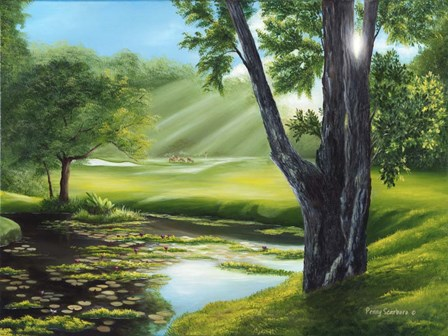 Morning Dew on the Green by Penny Scarboro Fine Art art print